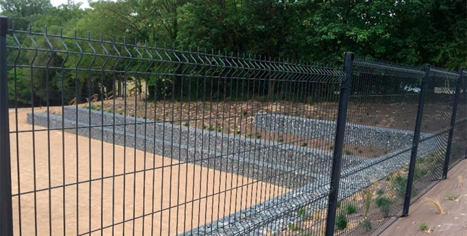 construction muret en gabion
